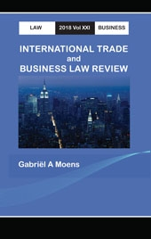 International Trade and Business Law Review 2018 Vol XXI